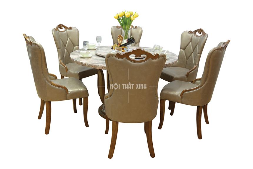bàn ghế ăn mã 195