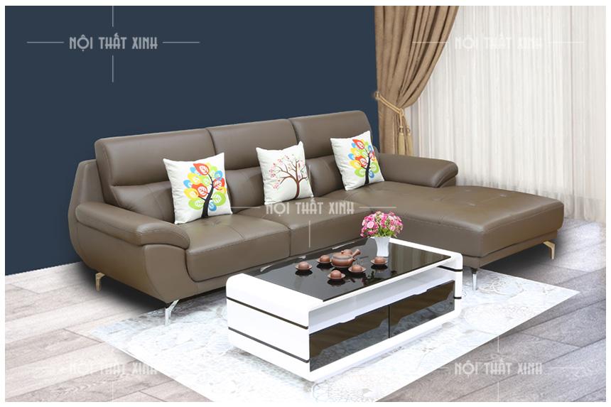 sofa da thật nhập khẩu mã NTX2824