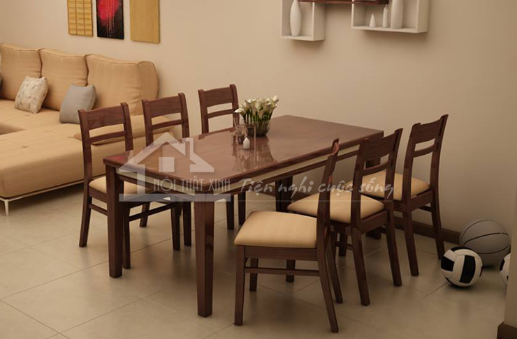 bàn ghế ăn gỗ Sồi
