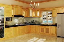 Tủ bếp gỗ sồi mã XGS02