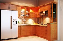 Tủ bếp gỗ sồi mã XGS04