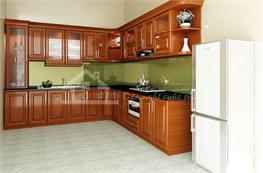 Tủ bếp gỗ xoan đào mã XXD03