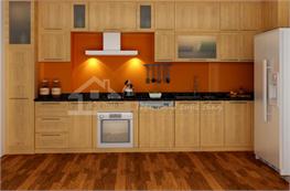 Tủ bếp gỗ công nghiệp mã XCN01