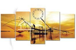 Tranh đồng hồ mã TDH001