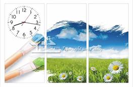 Tranh đồng hồ mã TDH027
