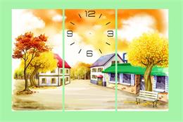 Tranh đồng hồ mã TDH020