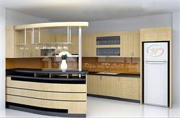 Tủ bếp gỗ công nghiệp mã XCN07
