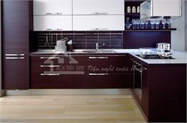 Tủ bếp gỗ công nghiệp mã XCN10
