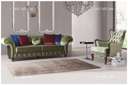 Sofa nỉ tân cổ điển CD1868