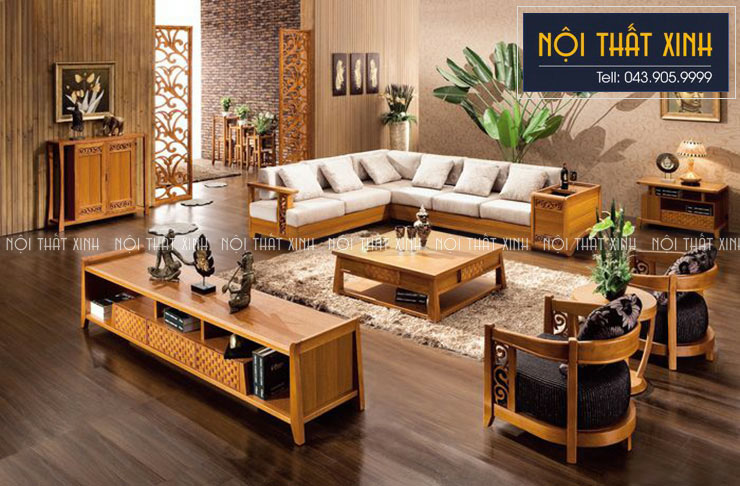 Chọn Kich Thước Sofa Gỗ Hiện đại Cho Phong Khach